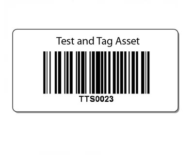 Plastic asset barcode labels - 35mm x 17mm - 1000 pack
