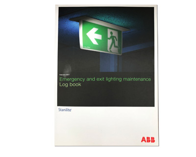 Log Book - ABB Stanilite Emergency and Exit Lighting Maintenance