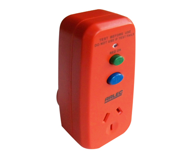 Arlec Single Outlet Safety Switch RCD Plug Type