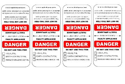 Customised Danger Tags in Red and Black - 500 Pack