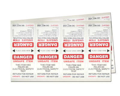 Standard Danger Tags - fast tags 100 pack with marker