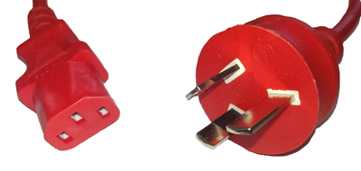 IEC to AU Plug to adaptor - 50cm - RED