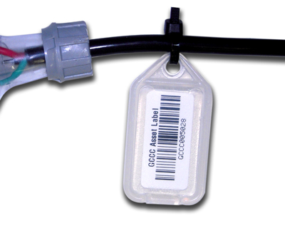 Heavy duty asset barcode tags - 30mm x 55mm - 100 pack