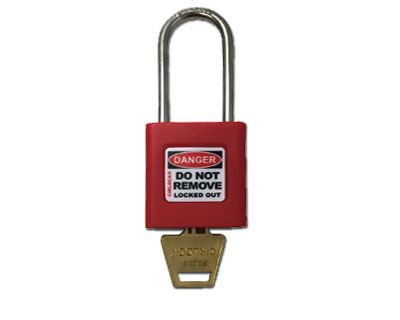 Red Safety Lockout Padlock (Keyed Differently) - Stainless Steel
